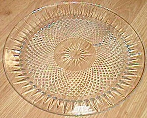 Large Crystal Cake Or Serving Tray Twisted Diamonds Ray