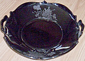 Black Amethyst Silver Overlay  Handled Bowl (Image1)