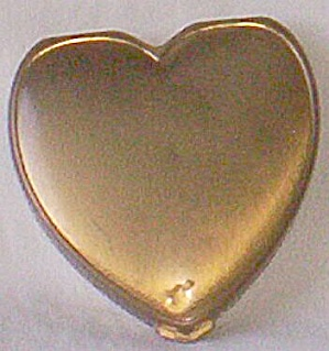 Hinge Co Heart Shaped Brass Compact