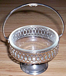 Vintage Crystal and Chrome Jam Dish (Image1)