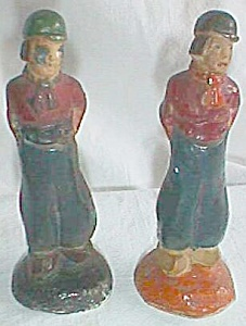 2 Miniature Chalkware Dutch Boys Figurines (Image1)