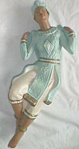 Vintage Chalkware Wall Figurine East Asian (Image1)