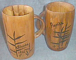 Pair Bamboo Florida Mugs (Image1)
