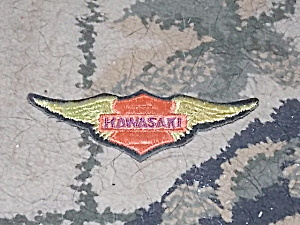 Vintage Winged Kawasaki Patch