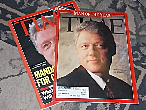 2 Time Magazines Clinton Man Of The Year +