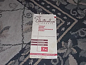 1951 Electrolux Cleaner Owners Guide
