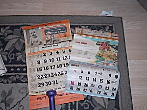 2 Vintage Calendars West End Drug Cloquet, Mn