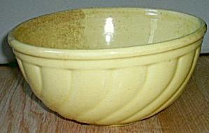 Antique Yellow Glaze Mixing Bowl Stoneware (Image1)