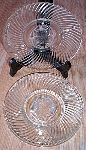 3 Federal Diana Bread Butter Plates (Image1)