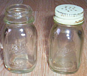 Mini Ball Mason Jar Salt Pepper Shakers (Image1)