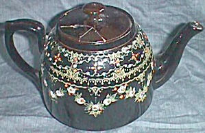 Enameled Teapot Tea Pot England (Image1)