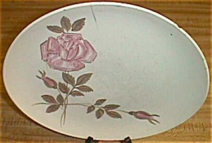 Red Wing Dinner Plate Red Wing Rose (Image1)