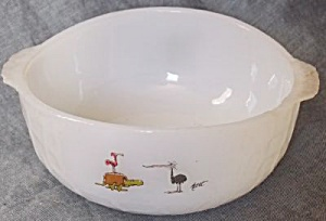 Fire King Bc Cave In Bowl