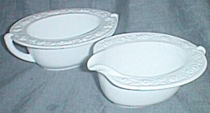 Vitrock Cream & Sugar Set Hocking Glass