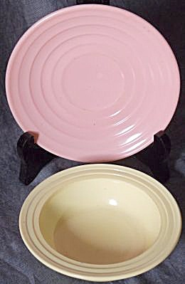 Hazel Atlas Moderntone Saucer & Sauce Bowl (Image1)