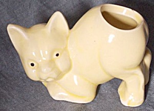 Morton Pottery Cat Cactus Pot