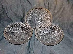 Set of 3 Crystal Bowls Diamond & Dots (Image1)