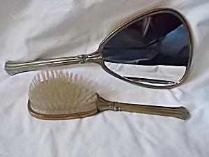 Vintage Brush and Mirror Dresser Set (Image1)