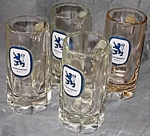 4 Lowenbrau 12 oz Beer Mugs (Image1)