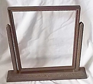 Vintage Free Standing Wood Picture Frame