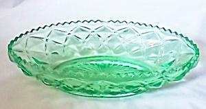 Vaseline Glass Oval Relish US Glass Williamsburg (Image1)