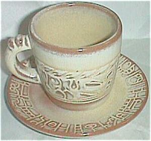 Frankoma Cup & Saucer Set #7C & #7F Tan (Image1)