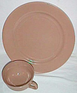 Hazel Atlas Ovide 2 Piece Dinnerware Set Fawn Brown (Image1)