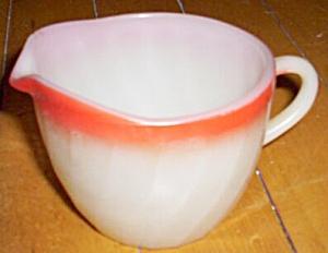 Fire King Shell Creamer Red Rim (Image1)