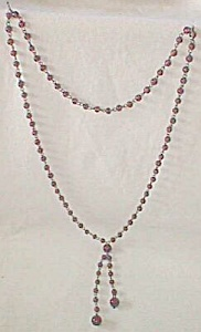 Vintage Glass Bead Necklace Amethyst Free Shipping (Image1)