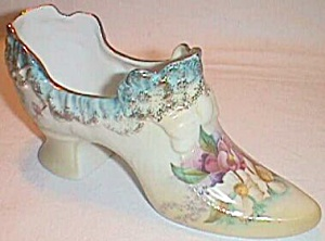 Stunning Rs Prussia Shoe Lovely Floral Transfer Free Shipping