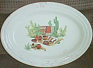 Stunning Small Serving Platter Mexican Theme (Image1)