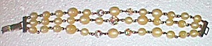 Unique Vintage 3 String Beaded Bracelet Free Shipping (Image1)