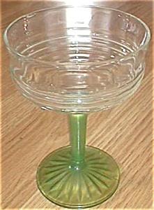 Hocking Stem Circle 1930 Green Stem Crystal Top (Image1)