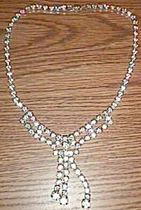 Stunning Rhinestone Choker Necklace Bow Tie Pattern Free Shipping (Image1)