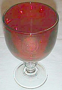 Large Ruby Flash Goblet