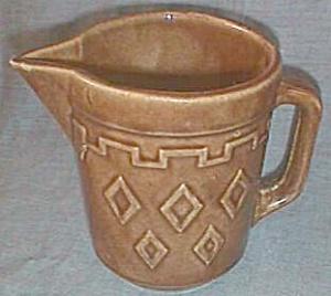 Western Stoneware Pitcher Diamond pattern (Image1)