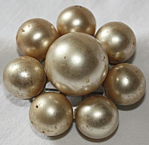 Antique Blown Glass Brooch 8 Glass Balls (Image1)