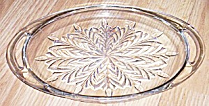 Vintage Oval Glass Condiment Tray Feather Pattern (Image1)