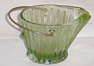 Green Coal Bucket Glass Ashtray