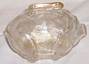 Small Carnival Glass Piggy Bank