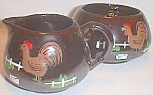 Vintage Rooster Cream & Sugar 40's (Image1)