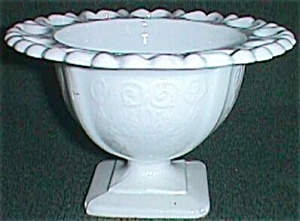Milk Glass Small Compote Lorain aka Basket 1960 (Image1)