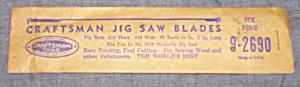 "Vintage Craftsman 5"" Jig Saw Blades 9-2690 MIB (Image1)"