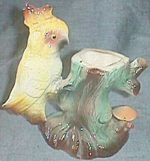 Incredibly Detailed Parrot Planter American Bisque #505