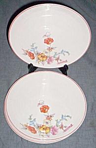 3 Cronin China Plates Zephyr Sweet Pea (Image1)