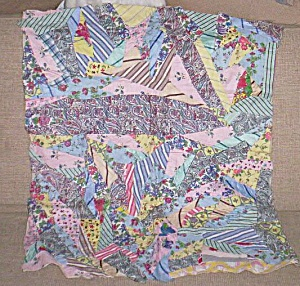 Vintage Patch Work Baby or Doll Quilt (Image1)