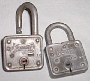 Twice the Locks Pair of old Master Locks (Image1)