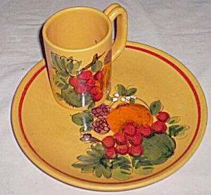 Italian Luncheon Plate & Mug Fruit (Image1)