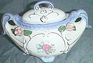 Unique Decorative Sugar bowl Applied Roses (Image1)