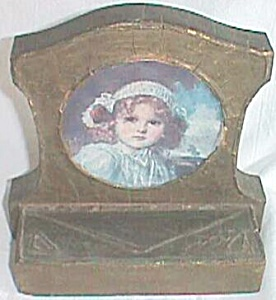 Antique Picture Frame Bookend Gesso over Wood (Image1)